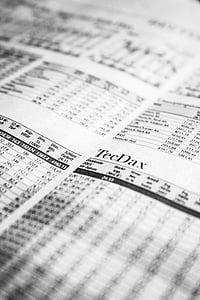 ajaleht, börsil, aktsiaturg, aktsiate hinnad, paber, aktsiaturg ja vahetamine, Valikuline fookus