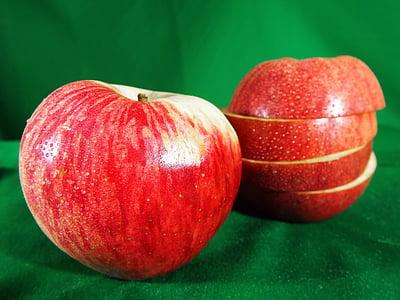 애플, 레드, 과일, 애플-과일, 음식, 신선도, 익은
