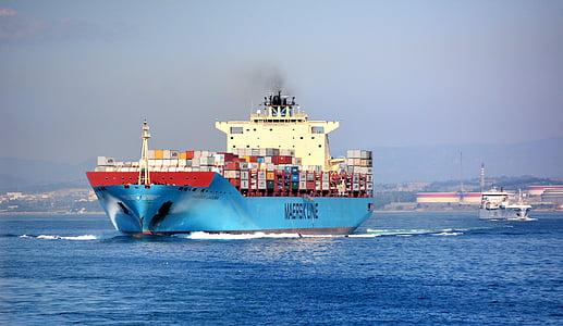 dörr behållare, båt, behållare, sjötransporter, logistik, globaliseringen, godstransporter
