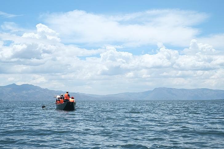 Erhai sjö, i provinsen yunnan, turism