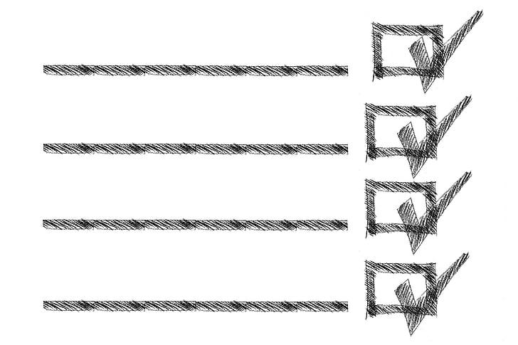 rectangle, Caixa, llista, línies, Llista de compres, esbós, discontínua