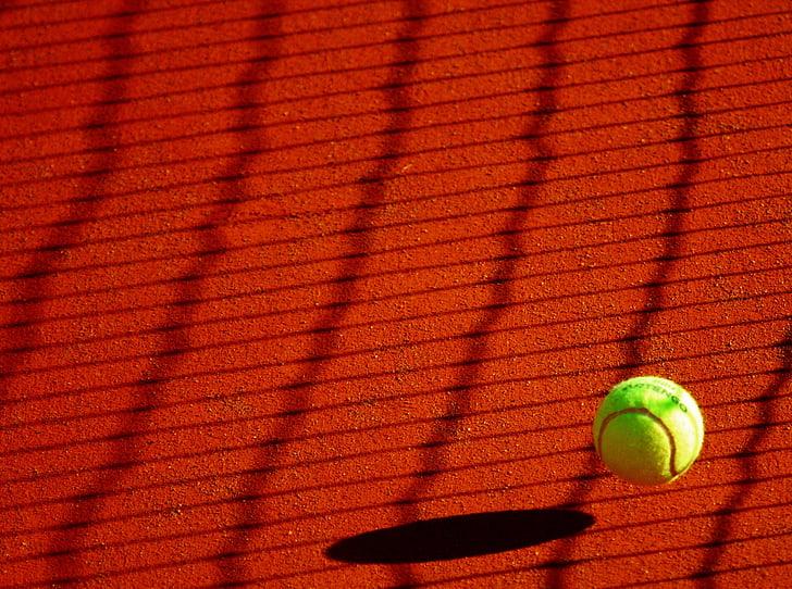 tenisas, kamuolys, Sportas, geltona, teniso kamuoliukas, žaisti, raketės