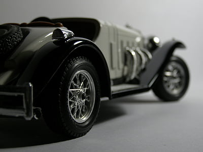 samochód, modelu, Zabawka, makro