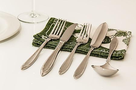 lloc entorn, sopar, coberts, menjador, celebració, Restaurant, taula