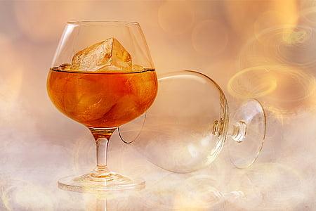 alcohol, alcoholische, drank, cocktail, koude, drankje, glas