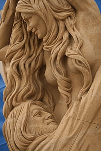 sand, sculpture, sand sculpture, art, artwork, sandworld, statue