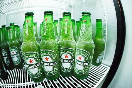 boce, hladnjak, zelena, pića, pića, hladno, staklo
