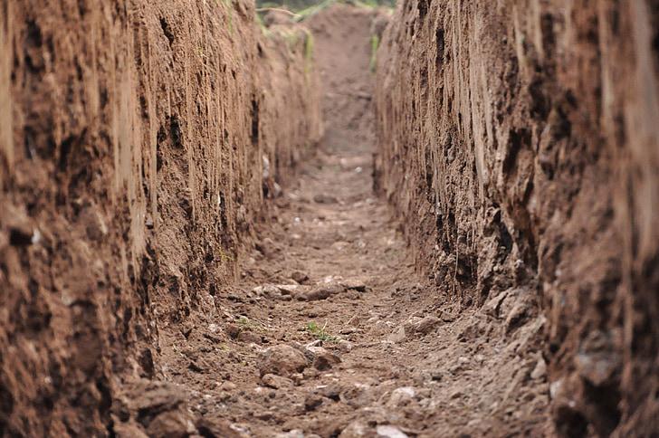 earth, clay soil, clay, furrow, dig, arable, cultivation