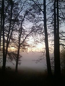 matahari terbit, morgenstimmung, pemandangan