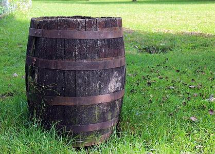 tonneaux en bois, baril, conteneur, bois, Déco, tonneau de vin, décoration