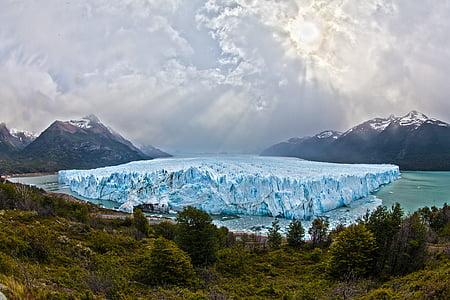 glaciär, Argentina, Sydamerika, Patagonia, snö, Ice, Moreno