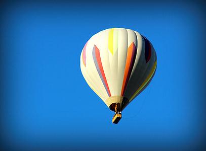 luftballong, luft, heta, ballong, resor, Sky, färgglada