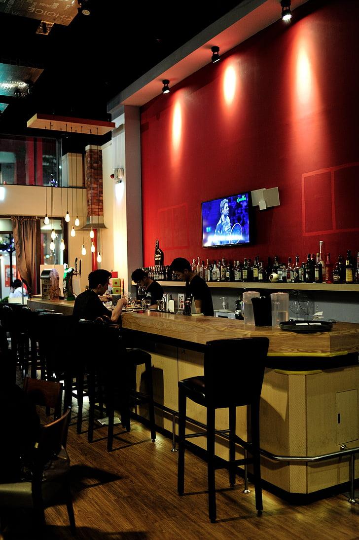restaurant, ambiance restaurant, bar