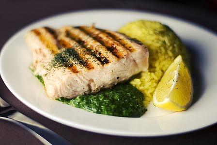 deliciós, sopar, peix, aliments, foodporn, llimona, dinar
