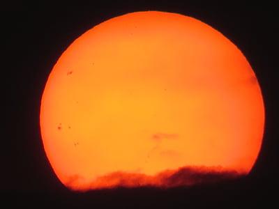 Güneş, günbatımı, abendstimmung, Sarı, kızdırma, ışık, Güneş lekeleri
