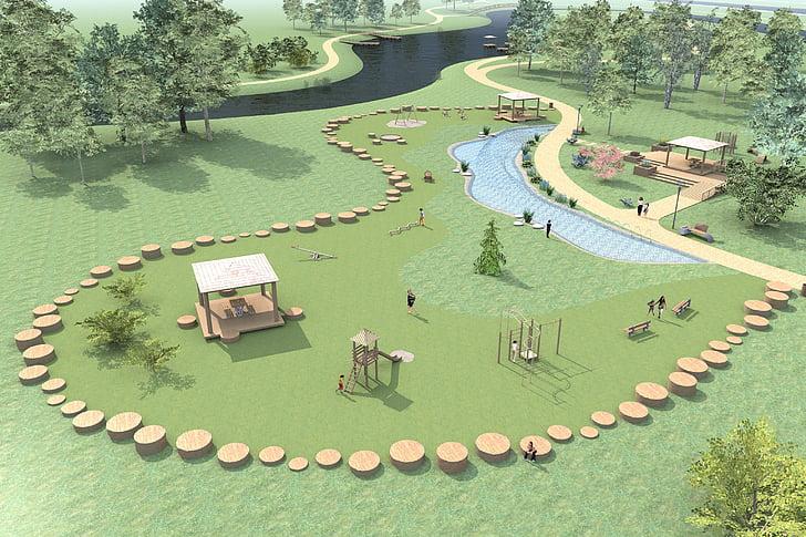 landscaping, park, leisure, recreation