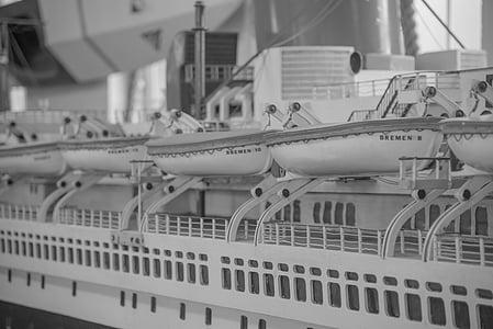 laivas, Romantika, gelbėjimo valtys, Romantiškas, įkrovos, atostogų, uosto