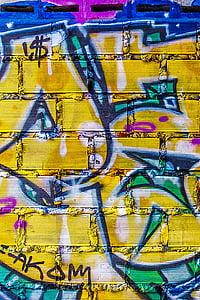 háttér, graffiti, grunge, Street art, graffiti fal, graffiti művészet, művészi