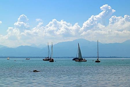 veler, veler, bota, Llac, blau, aigües, natura