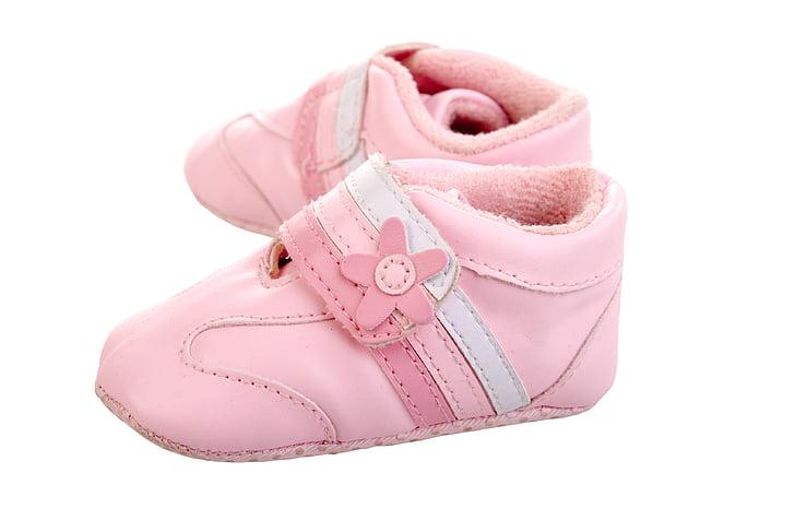boty, růžová, dítě, malá holčička, malý, Studio, šaty