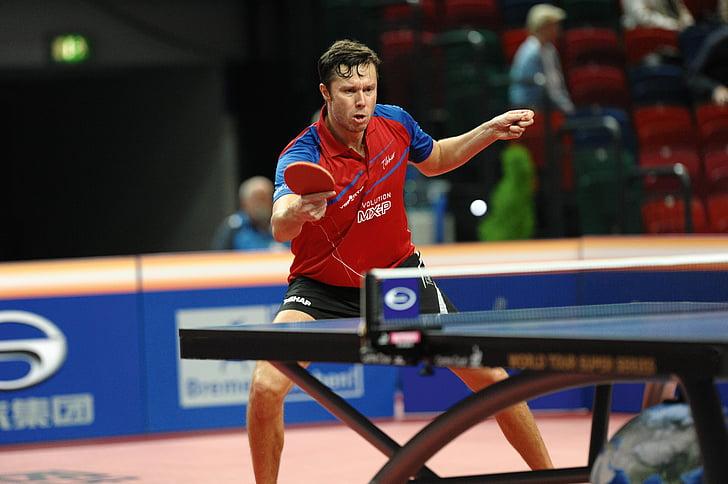 tennis de taula, ping-pong, passió, esport, esport competitiu, homes, jugant