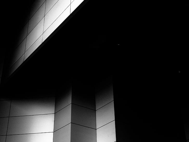 wall, white, black, abstract, geometric, tile, background