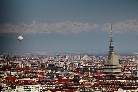 Torino, Talp, globus, renom, arquitectura, paisatge urbà, sostre