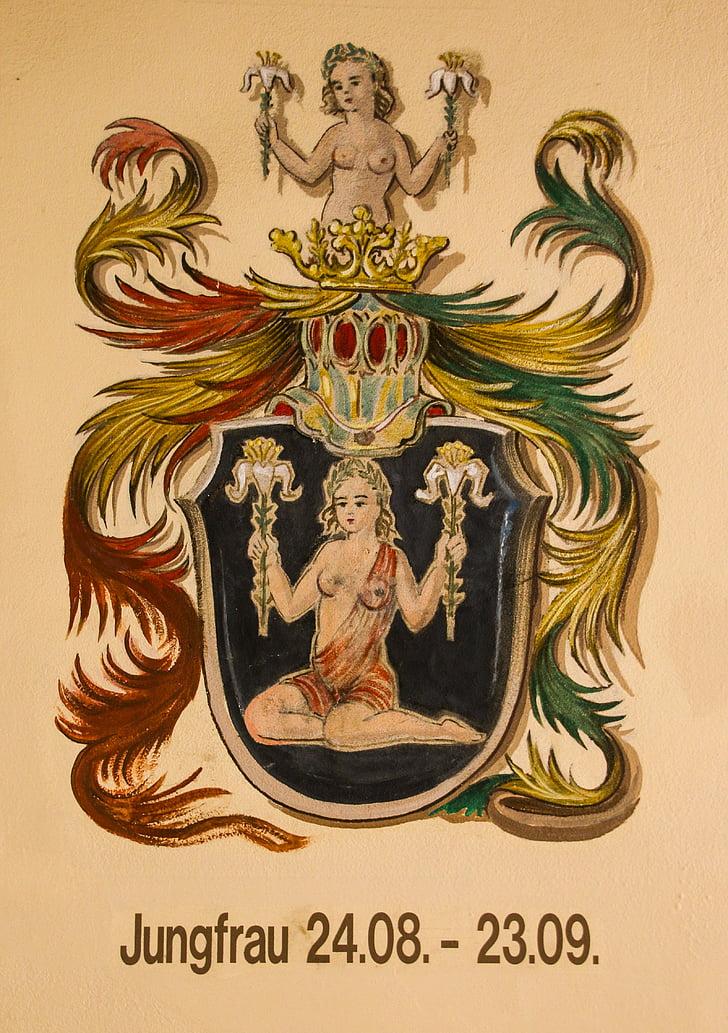 sterrenbeeld, Horoscoop, Astrologie, Maagd, tekens van de dierenriem, symbool, royalty 's