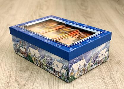 cutie, cadou, bani, euro, Crăciun, Ajunul Anului Nou, carte postala