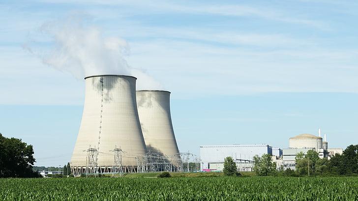 nucleaire, elektrische, energie, spanning, elektriciteit, Loire, industrie