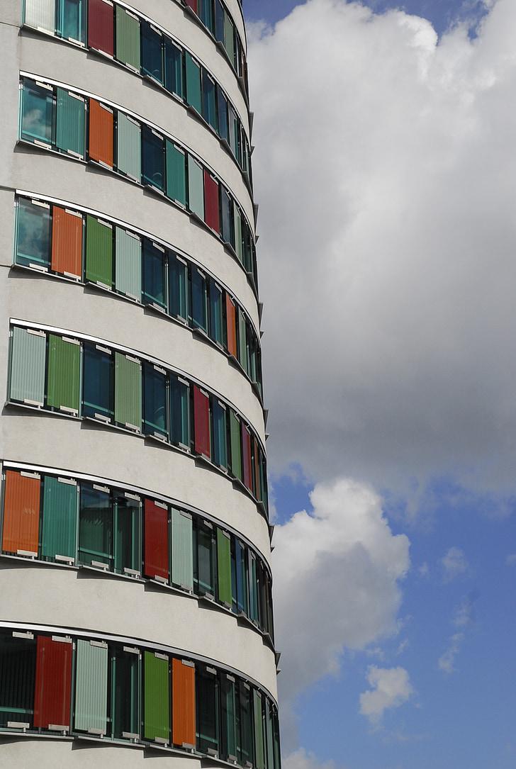 architecture, modern, skyscraper, building, glass, art, facade