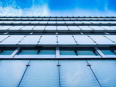 moderna, edifici, Windows, arquitectura, construcció, edifici modern, negoci