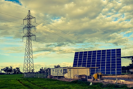 fotos Voltaica, panell, solar, energia, poder, verd, electricitat