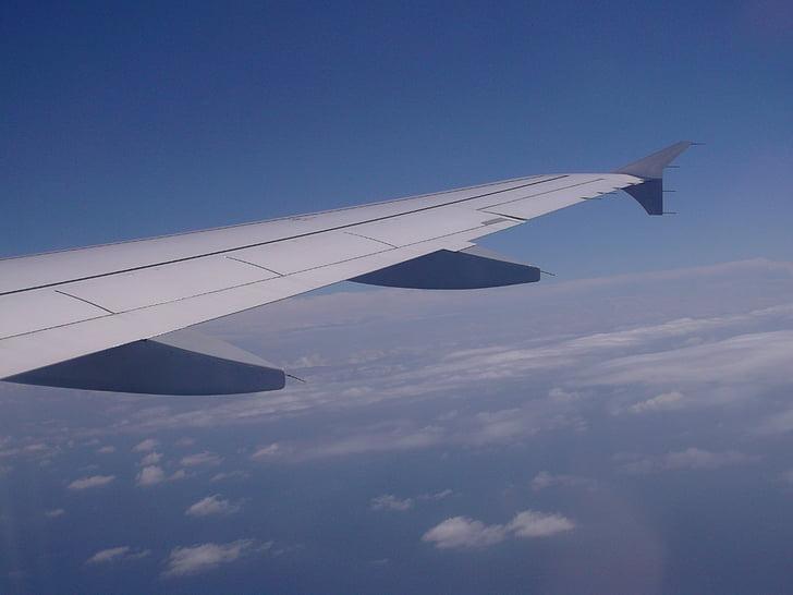 flygplan, Wing, flygplan-fönstret, Sky