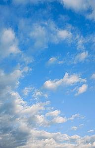 небе, бял облак, синьо небе, синьо, природата, времето, ден