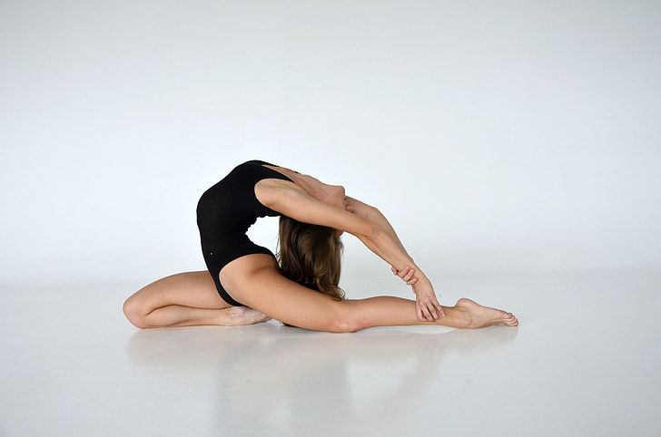 noia, Gimnàstica, esports, dones, l'exercici, Ioga, flexibilitat