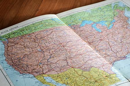 Amèrica, Geografia, mapa, navegació, Estats Units d'Amèrica, EUA