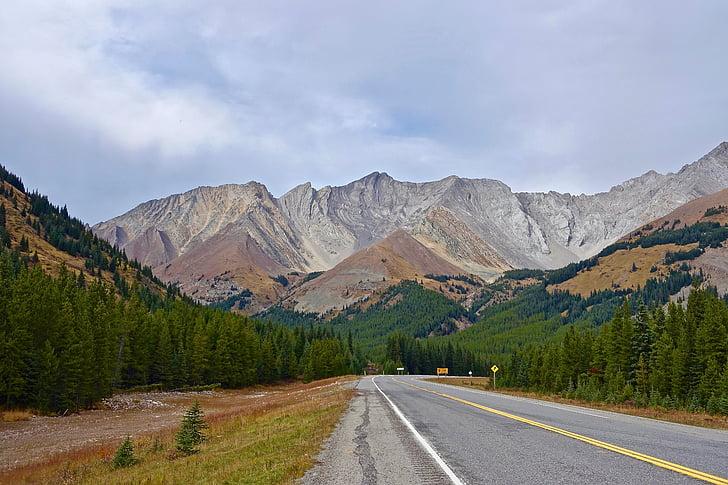 l'autopista, paisatge, muntanya, cim de la muntanya, natura, a l'exterior, Perspectiva