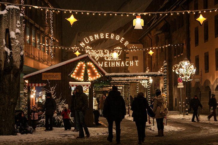 ฤดูหนาว, คริสมาสต์, ตลาดคริสต์มาส, นูเรมเบิร์ก, คริสมาสต์ buden