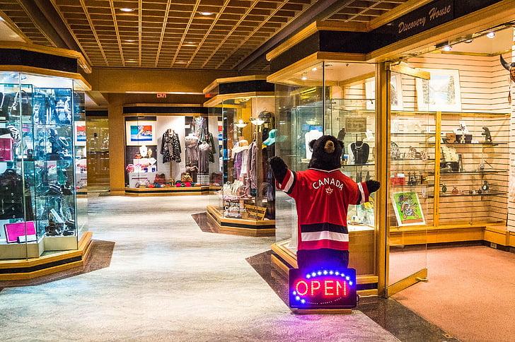 Pan pacific ξενοδοχείο, αρκούδα, καταστήματα, Βανκούβερ, Καναδάς, κατάστημα, Ψώνια
