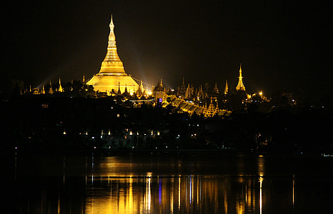 Pagoda, schwedaggon, Burma, buddhismen, Myanmar, Asia, stupa