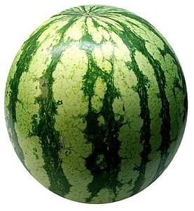 síndria, meló, fruita, dolç, deliciós, verd, esfèrica
