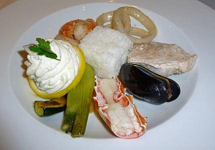 ēst, pārtika, zivis, jūras veltes, Starter, Vidusjūras virtuve, garšīgi