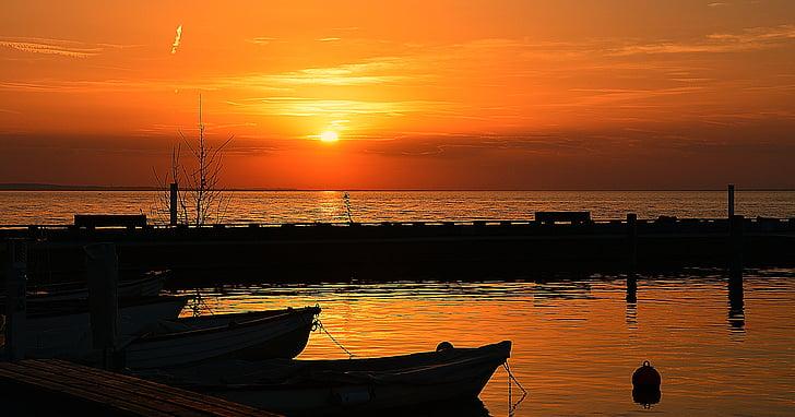 Lago Balatón, capvespre, Portuària