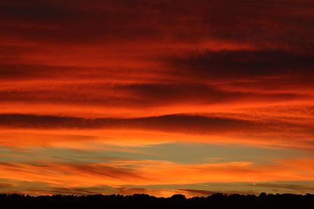 Захід сонця, післясвічення, небо, хмари, abendstimmung, Сутінки, вечірнє небо