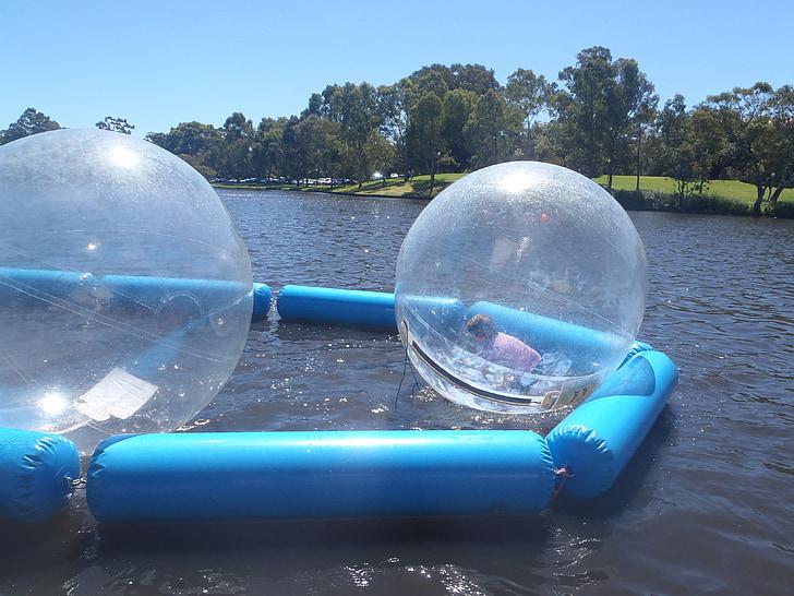 vatten-funktionen, bollar, attraktion, luftbubblor, vattensporter, spela, barn