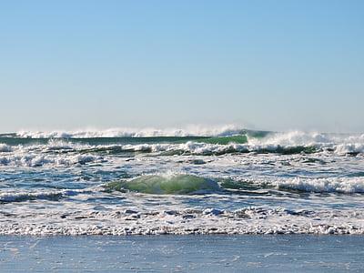 Beach, lained, Ocean, Vaikse ookeani, vee, Oregon, rannikul