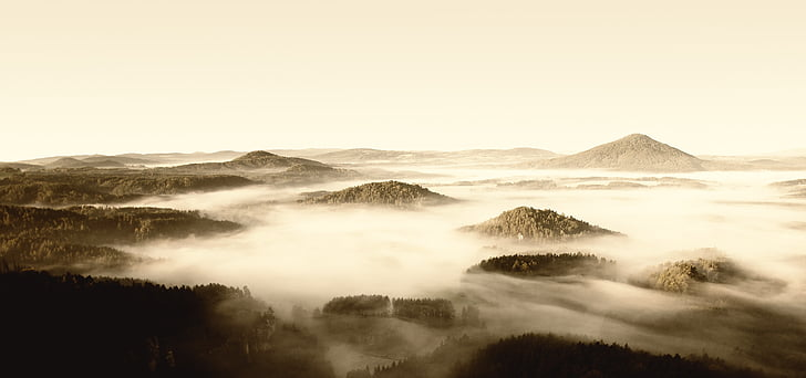 boira, Txeca-saxon, Suïssa, muntanyes, viatges, boira, muntanya, viatjant