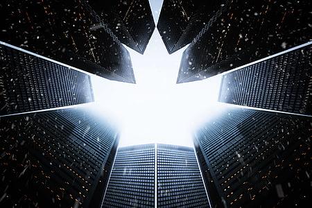 abstraktne, arhitektuur, taust, hoonete, äri, tume, disain
