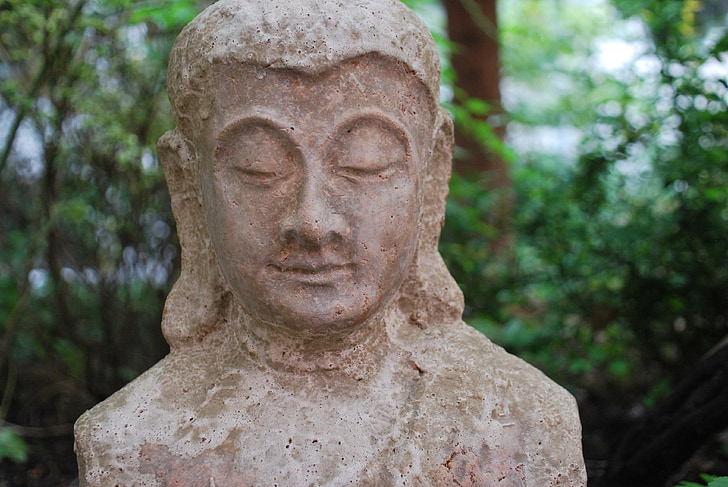 religió, figura de Buda, jardí, Àsia, religió oriental, meditació, Art
